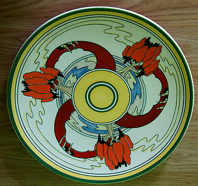 Clarice Cliff art Large Plate