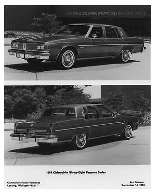 1984 Oldsmobile 98 Regency Sedan Automobile Factory Photo ch7344