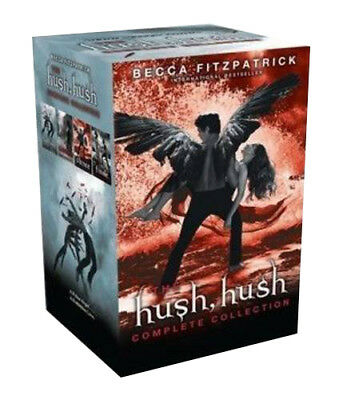 Becca Fitzpatrick Hush Hush Series Collection 4 Book Set,Finale,Crescendo, Hush