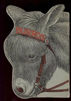 1902/ 'O3 DIE CUT BURRO, DONKEY or MULE BOOKLET * MANY PIC * FREE USA SHIP AD309