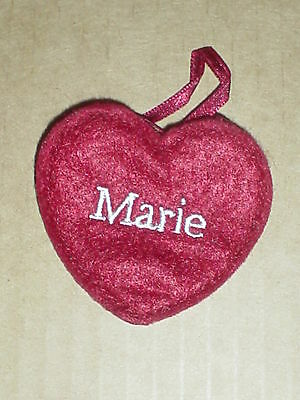 """Ganz  NEW Red Felt Name  Embroidered  /"""" JOAN /"""" Heart  Craft Patch Ornamen"""
