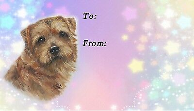Norfolk Terrier Dog Self Adhesive Gift Labels by Starprint