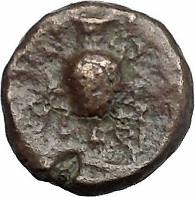 Myrina in Aeolis 2nd-1st Cent BC Rare Ancient Greek Coin Helios Amphora  i49508