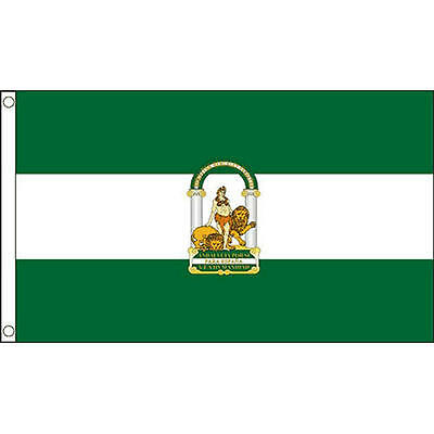 Andalusia Flag 5Ft X 3Ft Spain Spanish Banner With 2 Metal Eyelets New