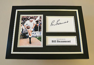 Bill Beaumont Signed A4 Photo Framed Autograph Display England Rugby Memorabilia