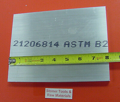 """1/2"""" X 6"""" ALUMINUM 6061 BAR 8"""" long Solid T6511 Extruded Mill Stock .50""""x 6"""""""