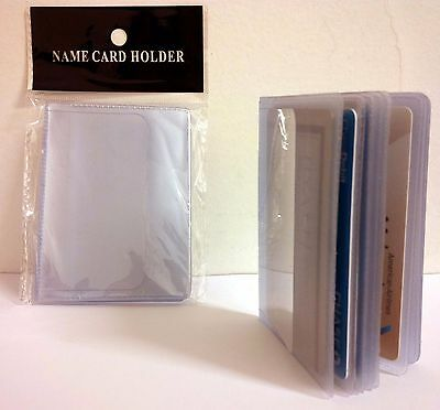 Lot Of 2 16-Page Credit Card Holder Plastic Clear Wallet Photo Inserts 17914