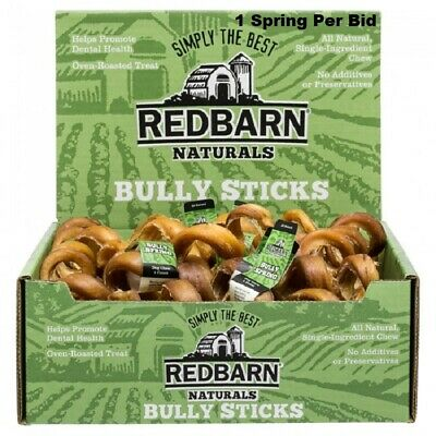 1 Red Barn Bully Springs Natural Sticks Chews Fresh New W/ Tags Spirals