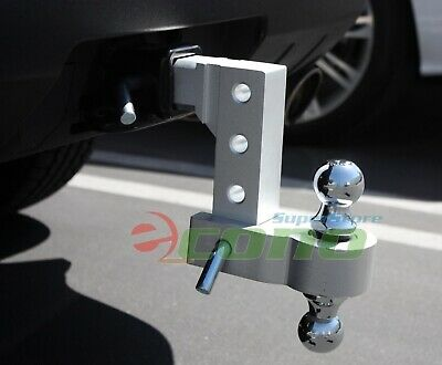 """Aluminum 6"""" Drop Adjustable Tow w/Dual Hitch Ball 2"""",2-5/16"""" FitTrailer Receiver"""