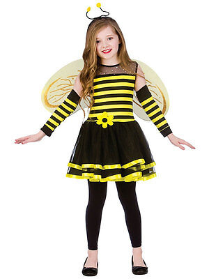 Girls Kids Bugs Bumblebee Bee With Wings Headband Halloween Fancy Dress Costume
