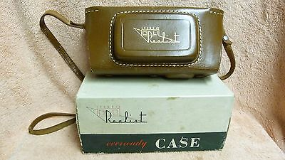 Vtg Stereo Realist F/3.5 35Mm 3D Film Camera+ Leather Case In Orig Box!