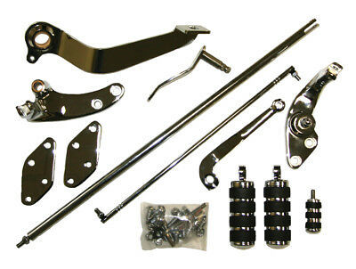 """2"""" Extended Chrome Forward Controls 1991-2011 Harley Dyna Complete Kit with Pegs"""