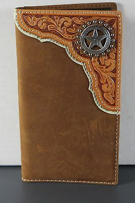 Star Concho Checkbook Cover Western Wallet Billfold Checkbook