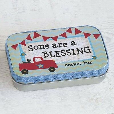 Natural Life Prayer Box Sons Blessing Notepad Faith Religious Inspirational Gift