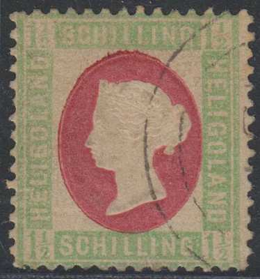 BC HELIGOLAND 1873 QV Sc 12 TOP VALUE USED SCARCE SCV$325.00