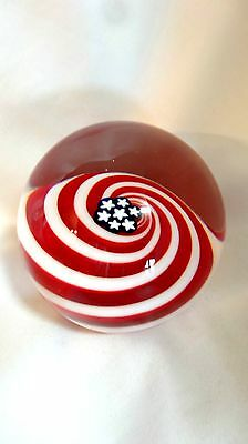 Glass Eye Studio Handcrafted Artist Series Old Glory Paperweight 525-1