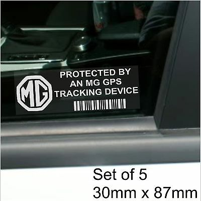 5 x MG GPS Tracking Device Security Stickers-3,6-Car Alarm Tracker