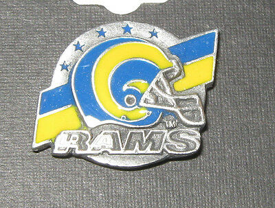 NFL LICENSED LAPEL  PIN TEAM LOGO ST. LOUIS RAMS  GO RAMS