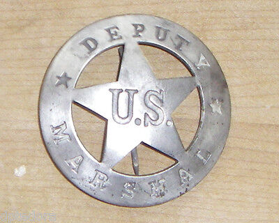 DEPUTY US MARSHALL  BADGE BW -74 SHERIFF POLICE WESTERN