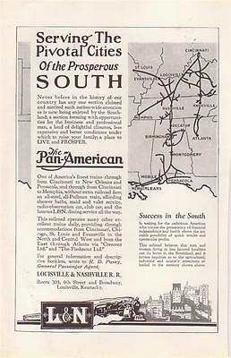 1926 L & N  Railroad Magazine Ad. The Pan-American..To New Orleans