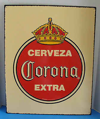 "Corona Extra Antique Style 26"" X 21"" Embossed Metal Sign New"