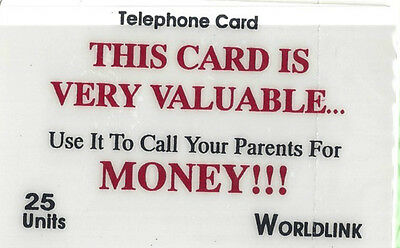 TK Telefonkarte/Phonecard Worldlink 25u Uni Georgia Money Aufl. 100