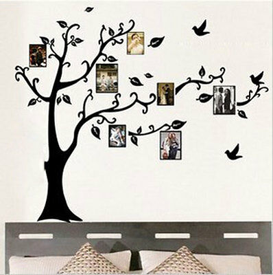 Delicate Family  Black Tree Wall Stickers Art Vinyl Decal Used For Photo Frame