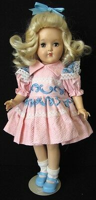 "14"" VINTAGE BLONDE HARD PLASTIC TONI DOLL BY IDEAL, P-90"