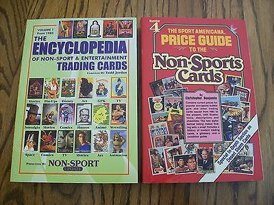 Lot of 2 Non Sport Trading Card Price Guides - Encyclopedia & Americana