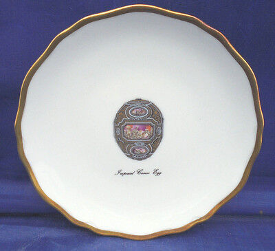 Canape Plate Faberge Limoges Imperial Egg Collection CAMEO Pink Gold 4""