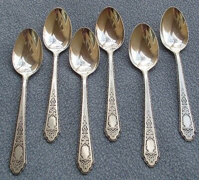 Set of SIX Lunt Sterling Silver Mary II Mary 2 Teaspoons
