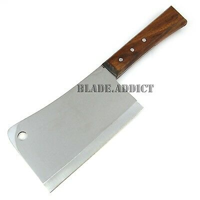 "12"" Stainless Steel Heavy Duty Meat Cleaver Chef Knife Butcher Chopper Hunting-U"