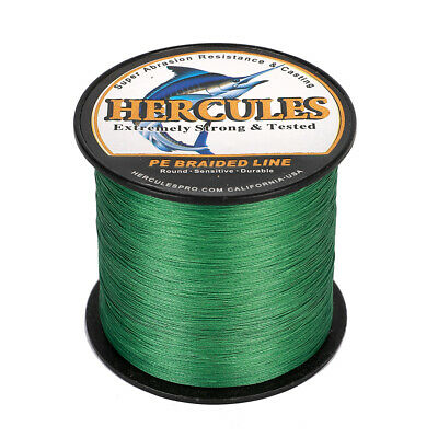 8 Strand Spectra 100% PE Dyneema Braid Fishing Line Green 100M 300M 500M 1000M