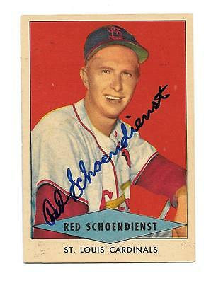 1954 Red Heart RED SCHOENDIENST Autographed / Signed card SP St. Louis Cardinals