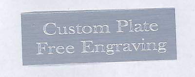 "Engraved Plate art-trophy-Taxidermy 1/2""x1 1/2"" Silver aluminum free engraving"