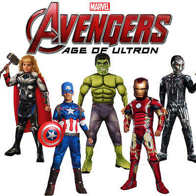 Official Rubies Avengers Age Of Ultron Childrens Kids Fancy Dress Costume Outfit
