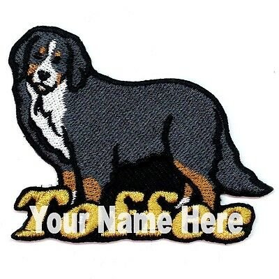 Bernese Mountain Dog Custom Iron-on Patch With Name Personalized Free