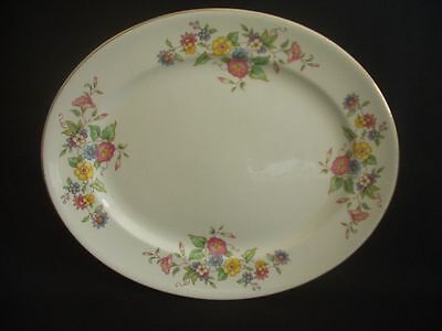 BURLEIGH WARE -BURGESS & LEIGH -OVAL SERVING PLATE -FLORAL PATTERN -c.1940