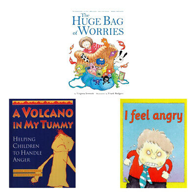 Children Books A Volcano in My Tummy,The Huge Bag of Worries 3 Book Collection