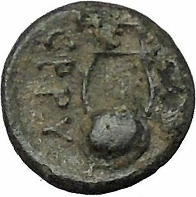 SMYRNA in IONIA 280BC Authentic Ancient Greek Coin Rare APOLLO Cult Lyre i49663