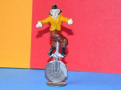 Vintage Rare Pre-War Charbens Lead Mimic Circus Series Clown Riding A Unicycle