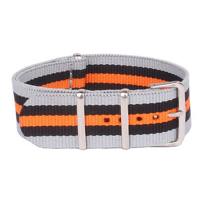 Nylon 18mm 22mm Cambo Color Belts Stripe Watchband Watch Strap Wristwatch Bands