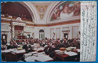 Senate Chamber State Capital St Paul MN Color Photo Print Souvenir Postcard 1905