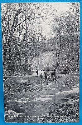 Minnehaha Creek Rustic Bridge MN Minnesota Photo Print Souvenir Postcard 1912