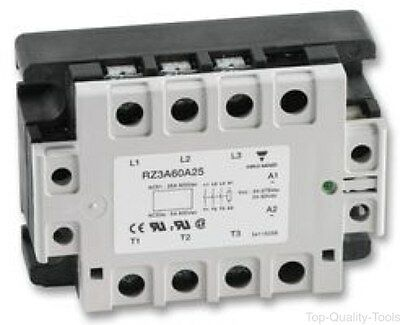 Solid State Relay, 3PST-NO, 25 A, 660 VAC, Panel, Screw, Zero Crossing