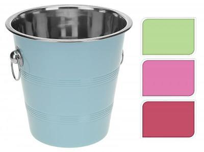 Colourful Metal Ice Utility Bucket Wine Beer Champagne Cooler Party BBQ