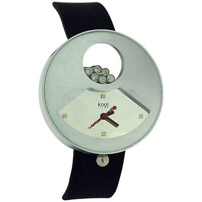 Kool Time Star Cluster Analogue Black Silicone Strap Ladies Fashion Watch KT50