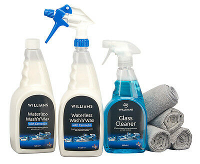 Williams Car Cleaning Kit Waterless Wash n Wax Removes Dirt Grime Bird Droppings