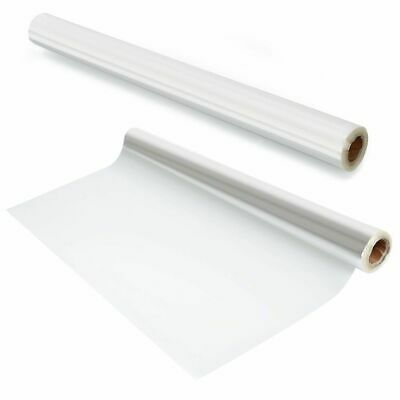80cm WIDE CELLOPHANE ROLL CLEAR  FLORIST / CRAFT FILM WRAP ASSORTED LENGTHS