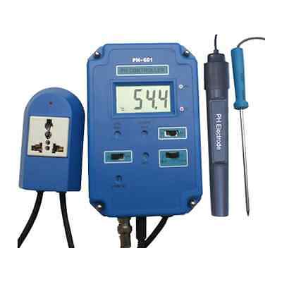 Controlador / Regulador medidor de pH con Temperatura para Acuario (pH-601)
